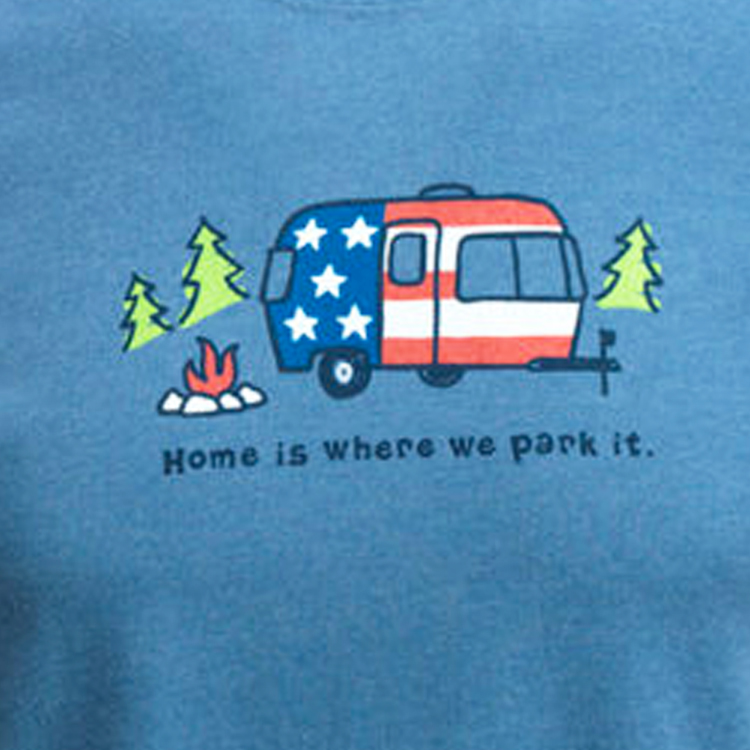 01 life is good mens home is where we park it blue
