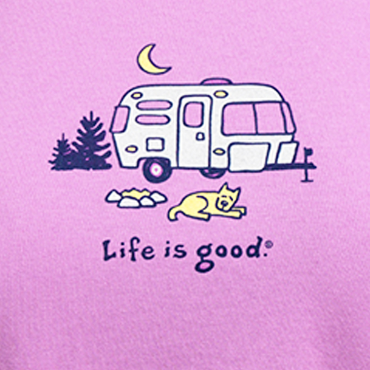 01 life is good womens night camper pink
