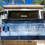 artbya horizontal AS banner on trailer