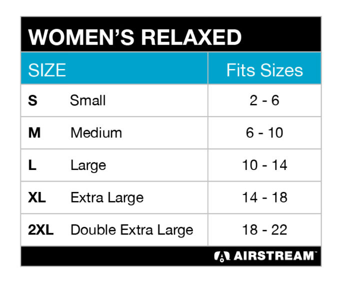 womens relaxed BC6405 tee size chart