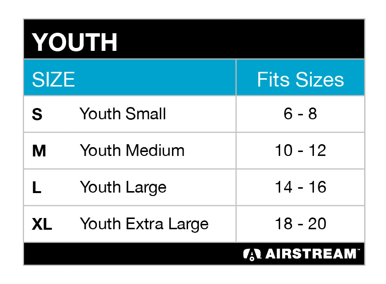 youth BC3001Y tee size chart