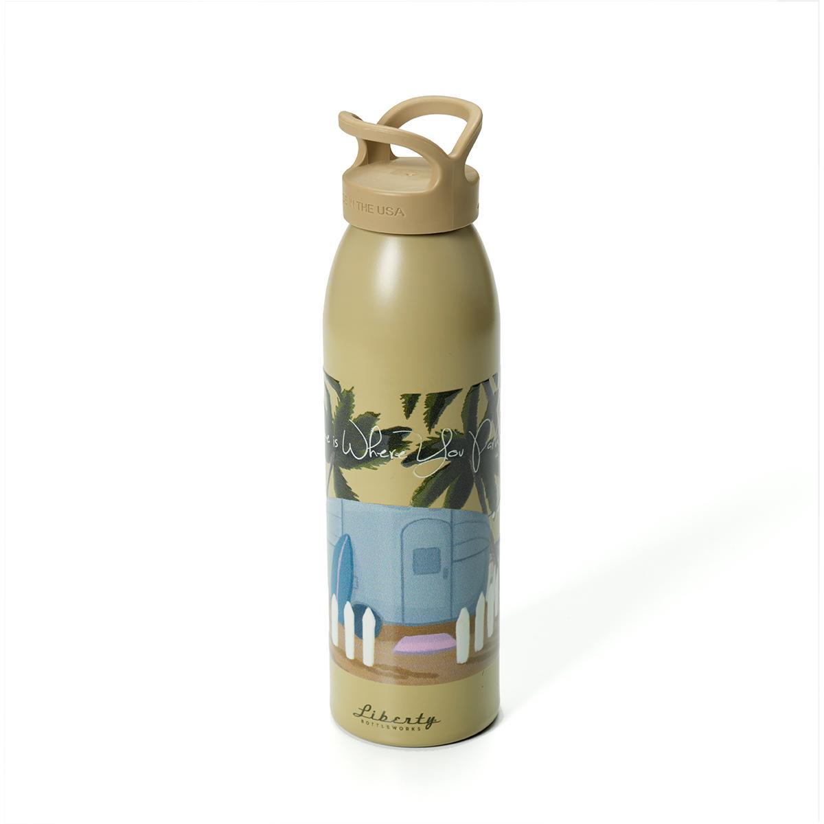 AIRMKT eCom PN 44482W-51 Water Bottle Day Camping Art 49970 WEB