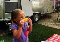 little girl corn