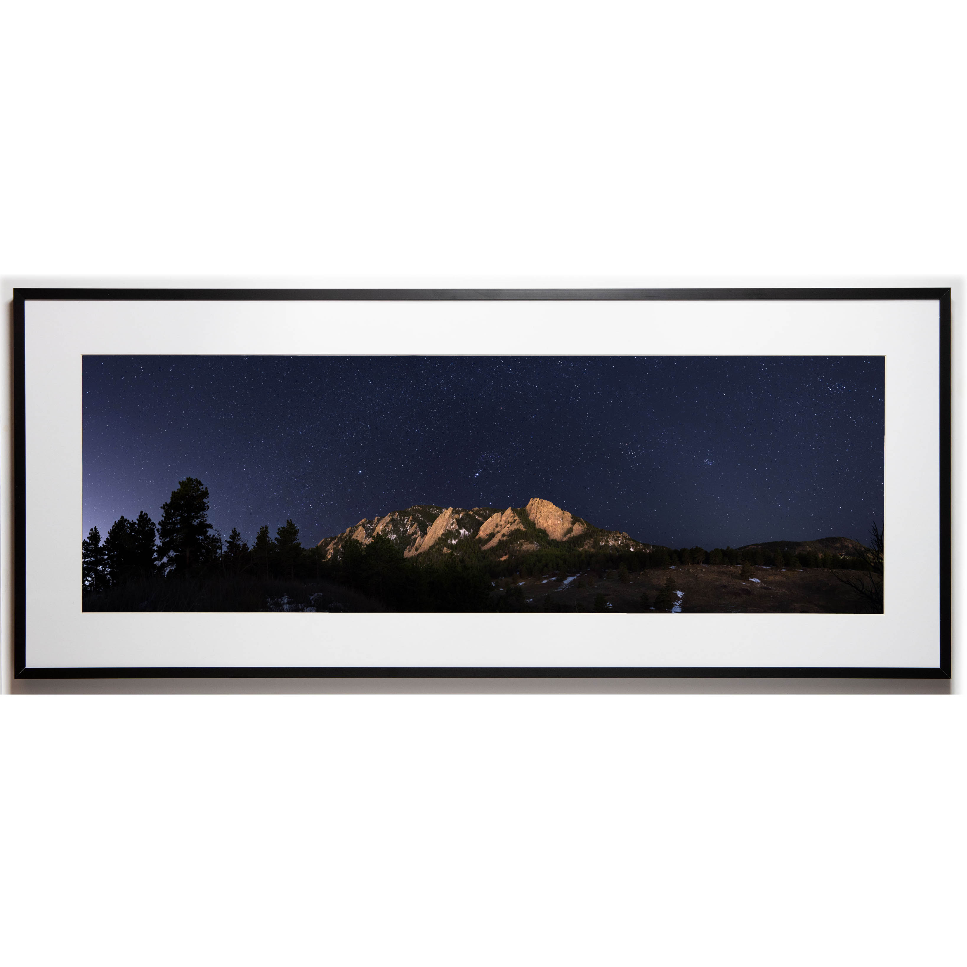 Cullis 10x30 framed - Flatirons Stars cropped