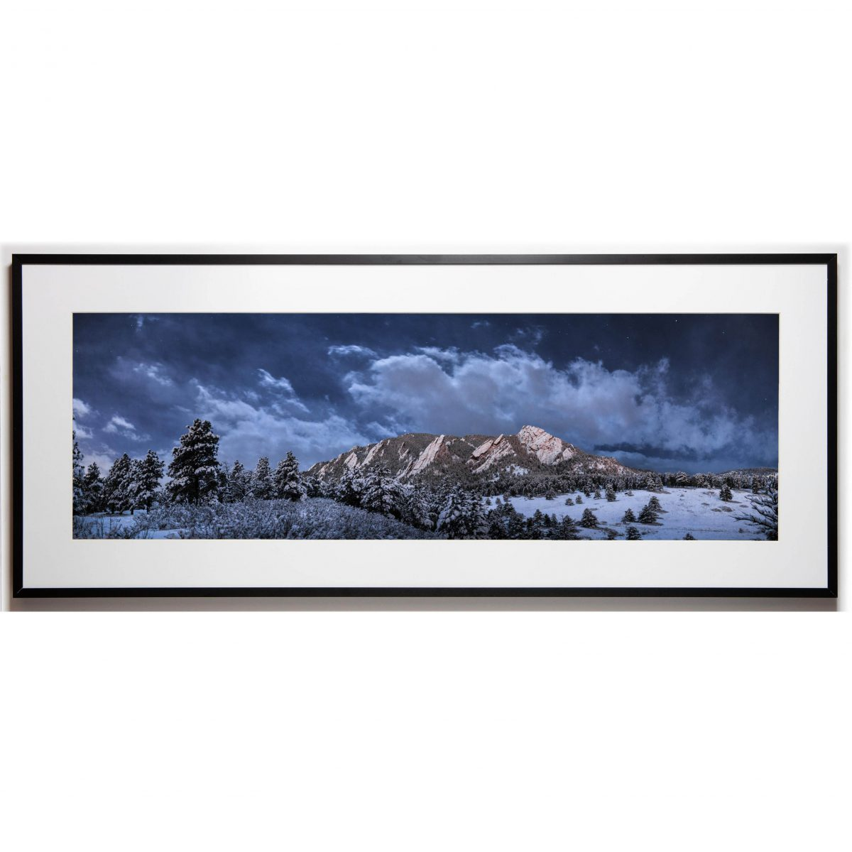 Cullis 10x30 framed - Flatirons Cloudy cropped