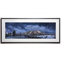 Cullis 10x30 framed - Flatirons Cloudy cropped