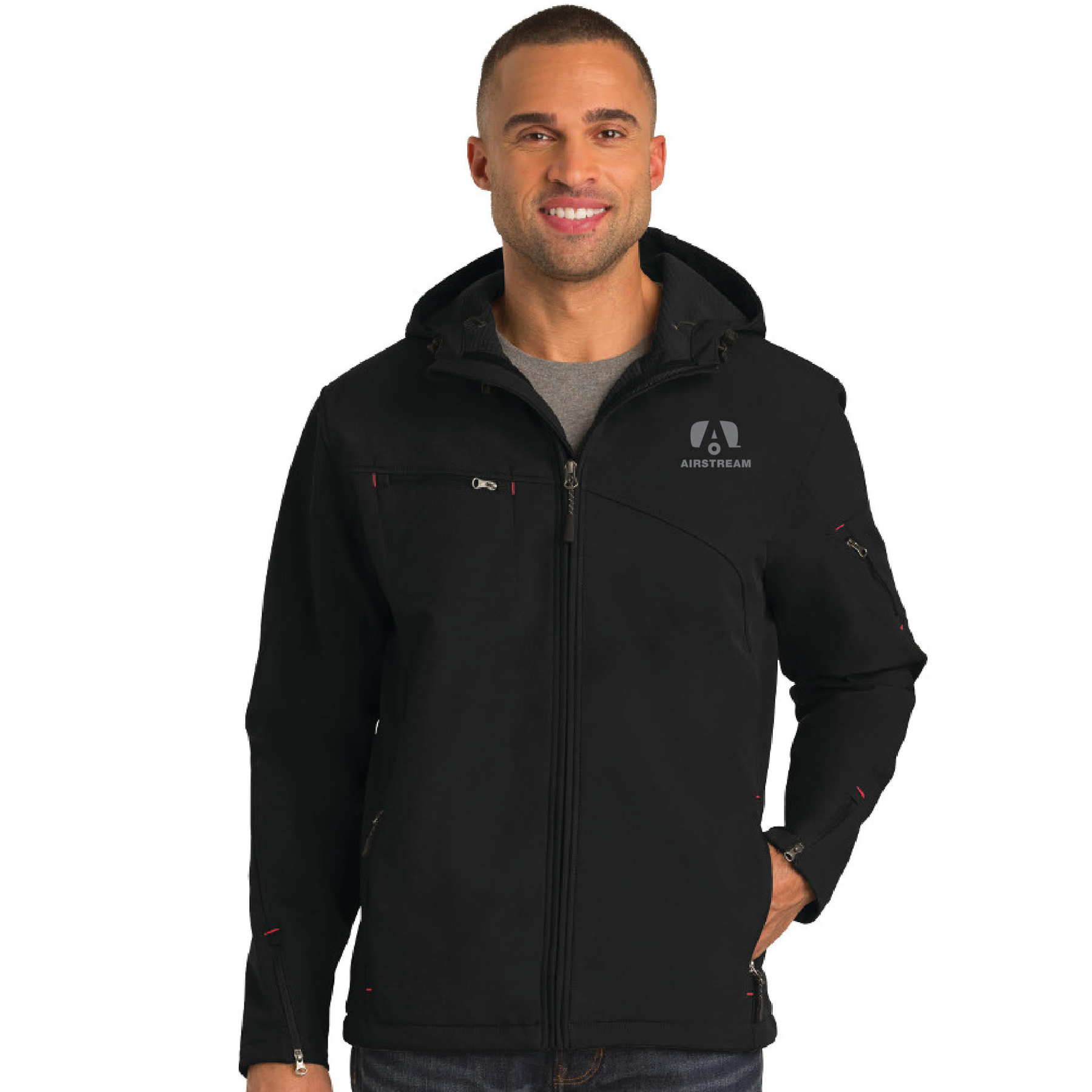 port authority hooded jacket man