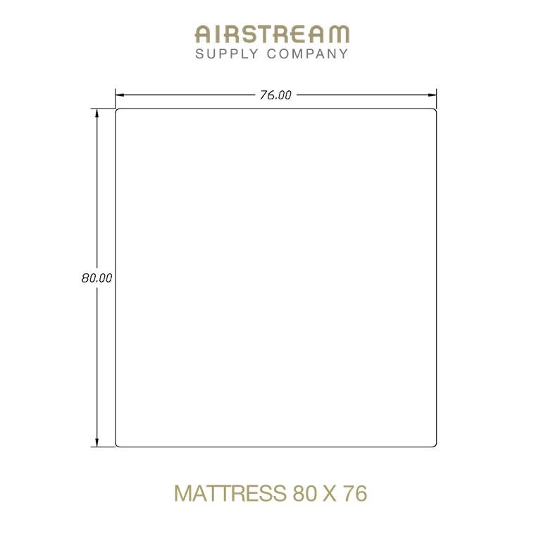 Airstream Custom Replacement Mattress 80 X 76