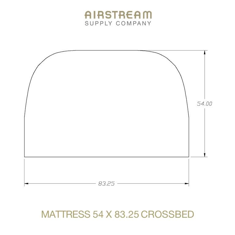 Airstream Custom Replacement Mattress 54 X 83.25 CROSSBED