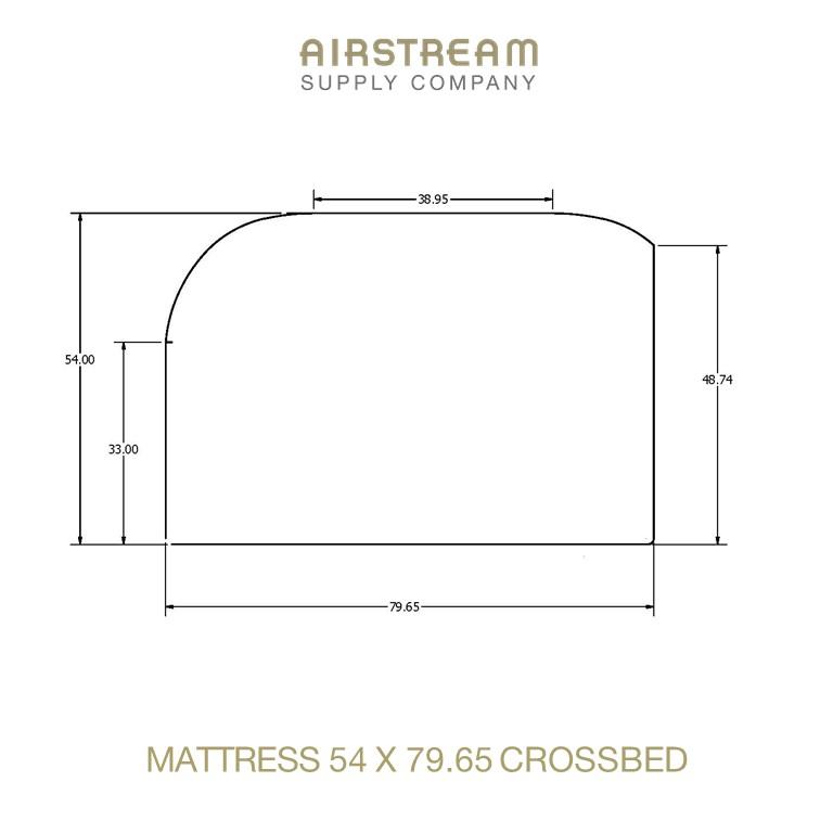 Airstream Custom Replacement Mattress 54 X 79.65 CROSSBED