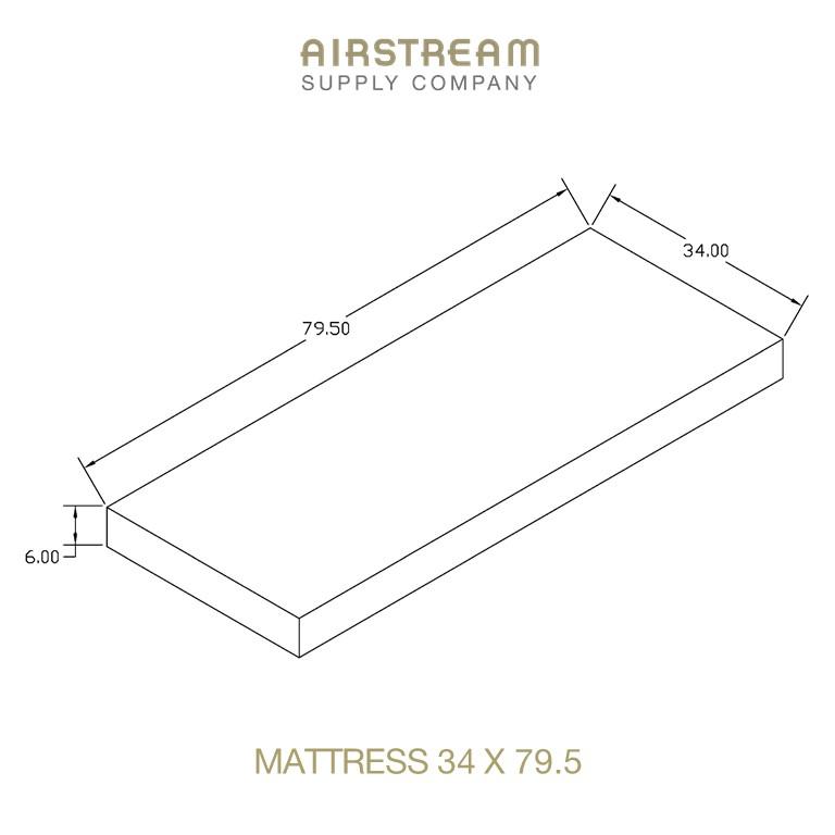 Airstream Custom Replacement Mattress 34 X 79.5