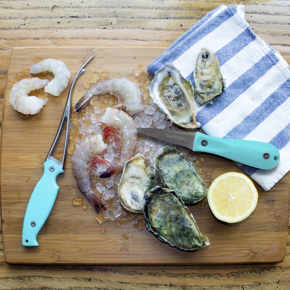 toadfish shrimp oyster tools
