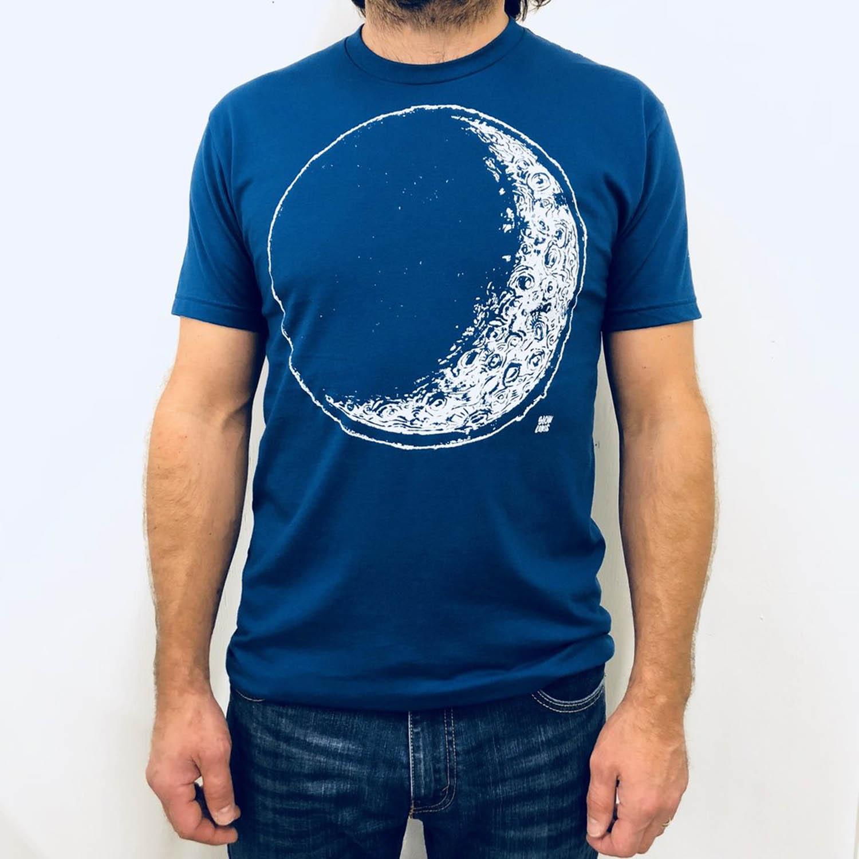 slow loris mens moon tee on model