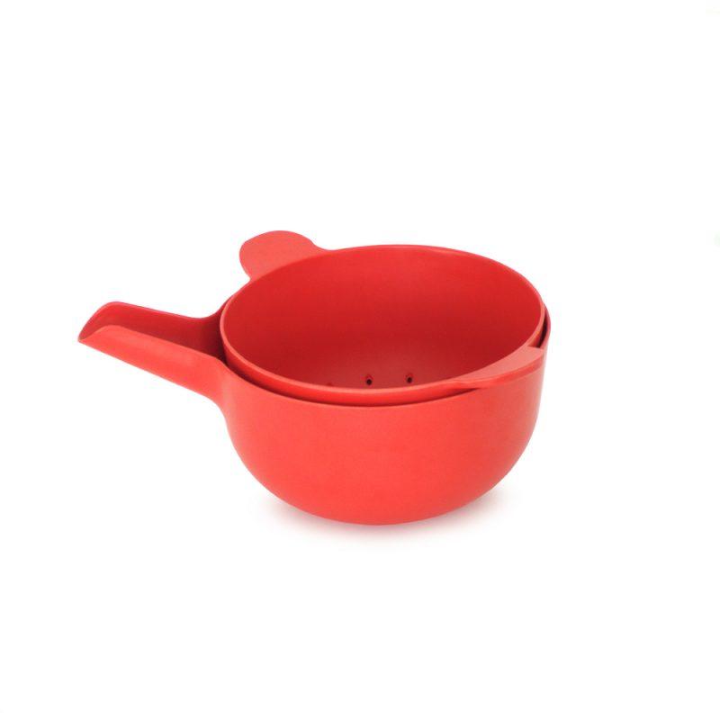 ekobo mixing bowl set small tomato