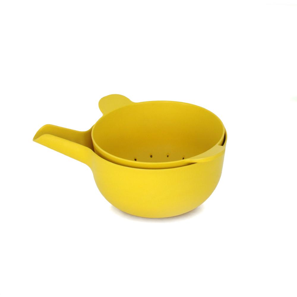 ekobo mixing bowl set small lemon