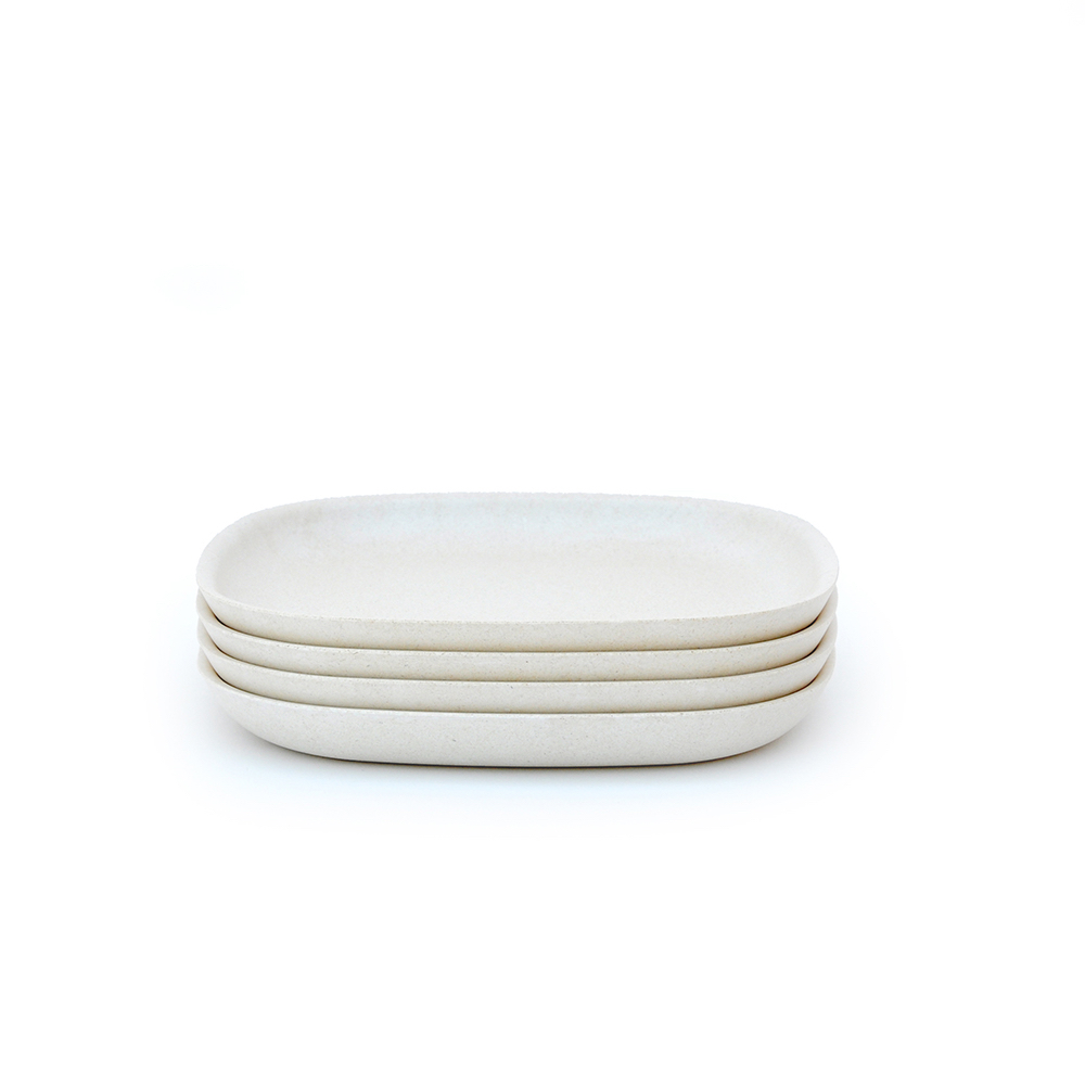 ekobo plates stack of 4 same size sae color