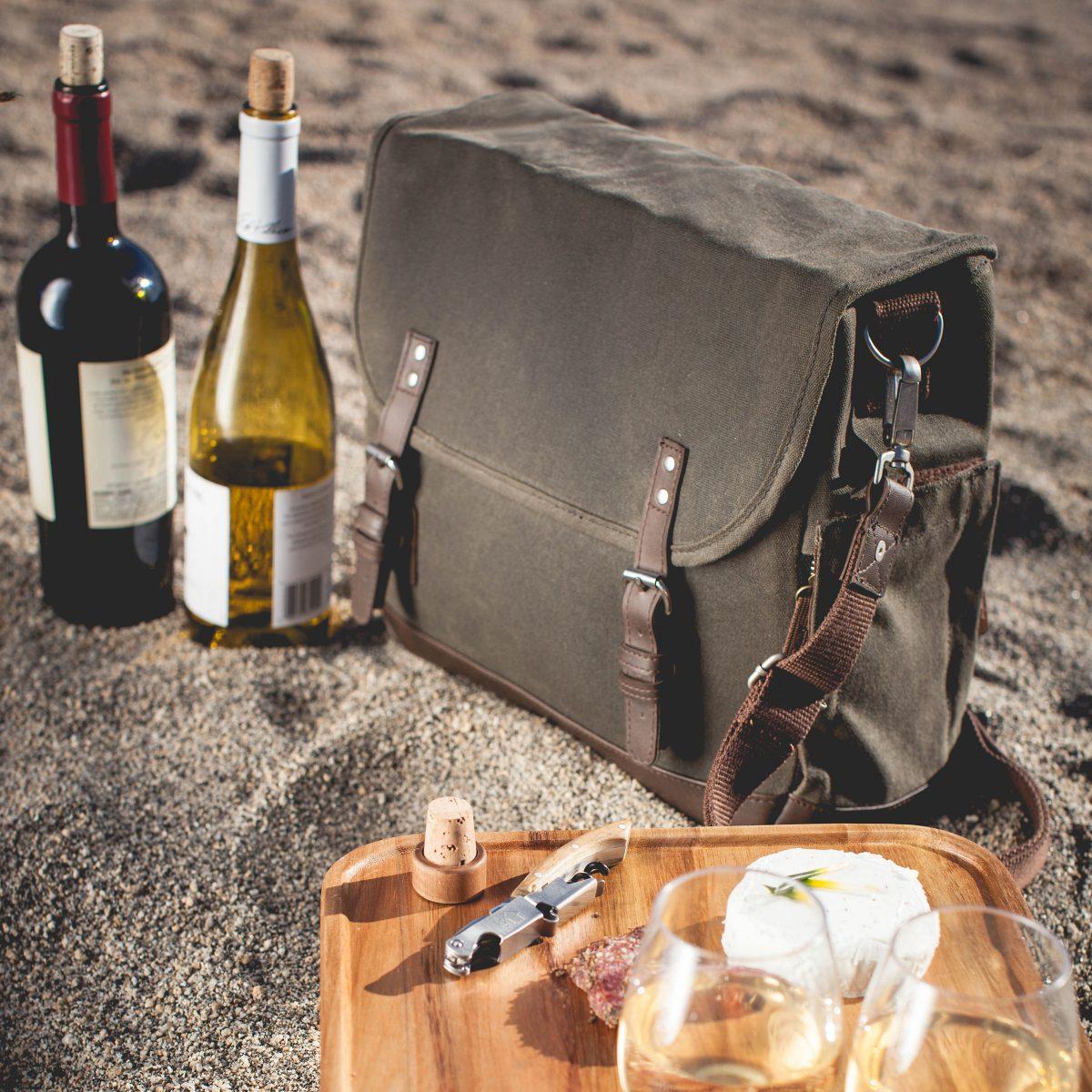 picnic time adventure wine tote