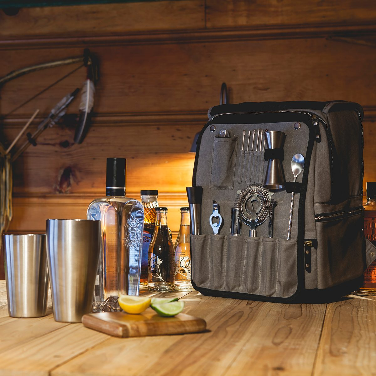 picnic time bar backpack open on table