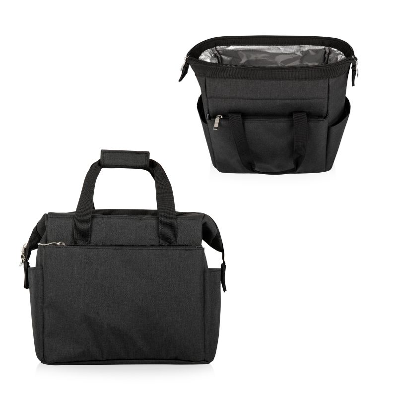 picnic time lunch tote black 2 views