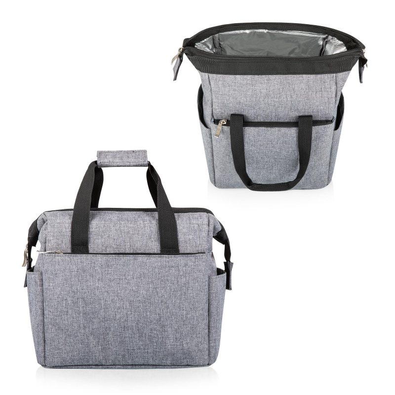 picnic time lunch tote gray 2 views