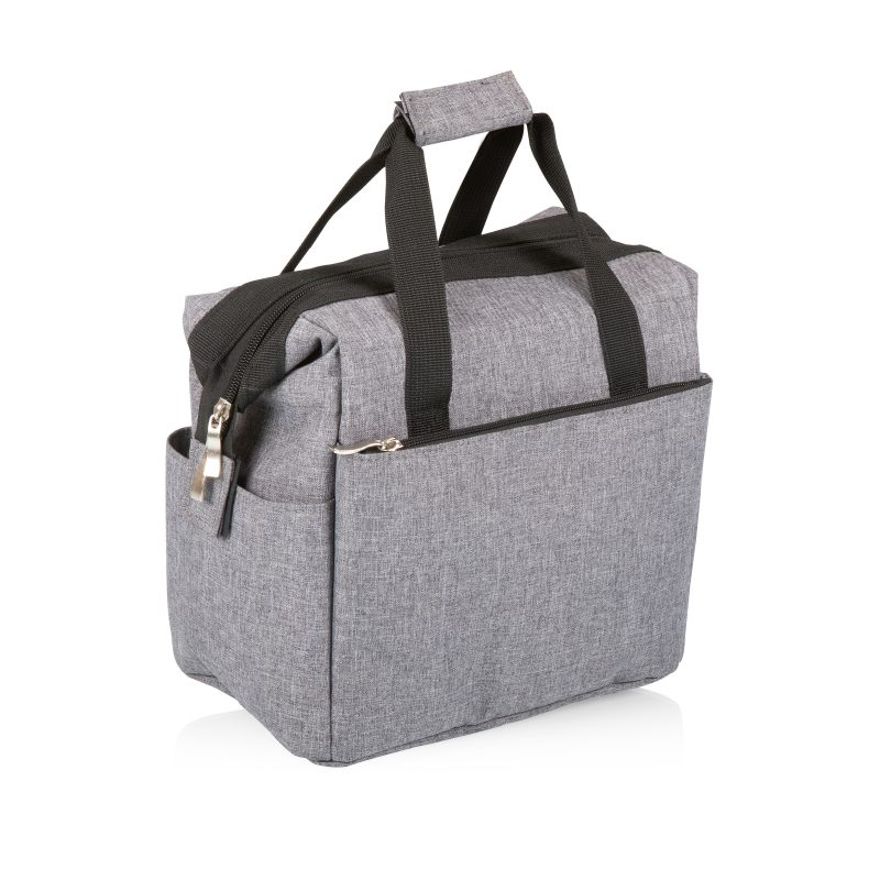 picnic time lunch tote gray side