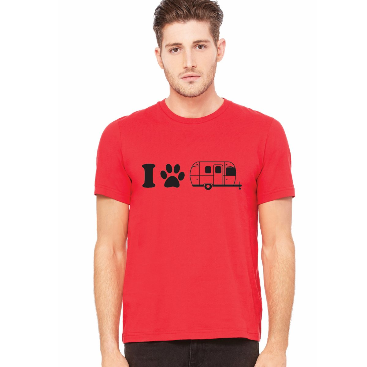 dog paw_mens red