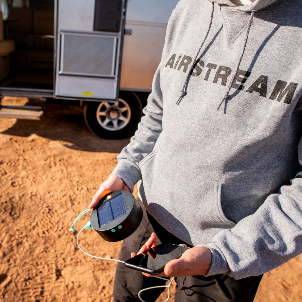 airstream EST 1931 gray hoodie by augusta