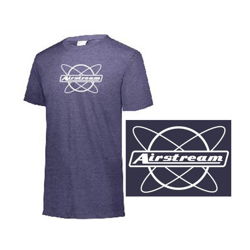final augusta mens tee atom logo on navy heather
