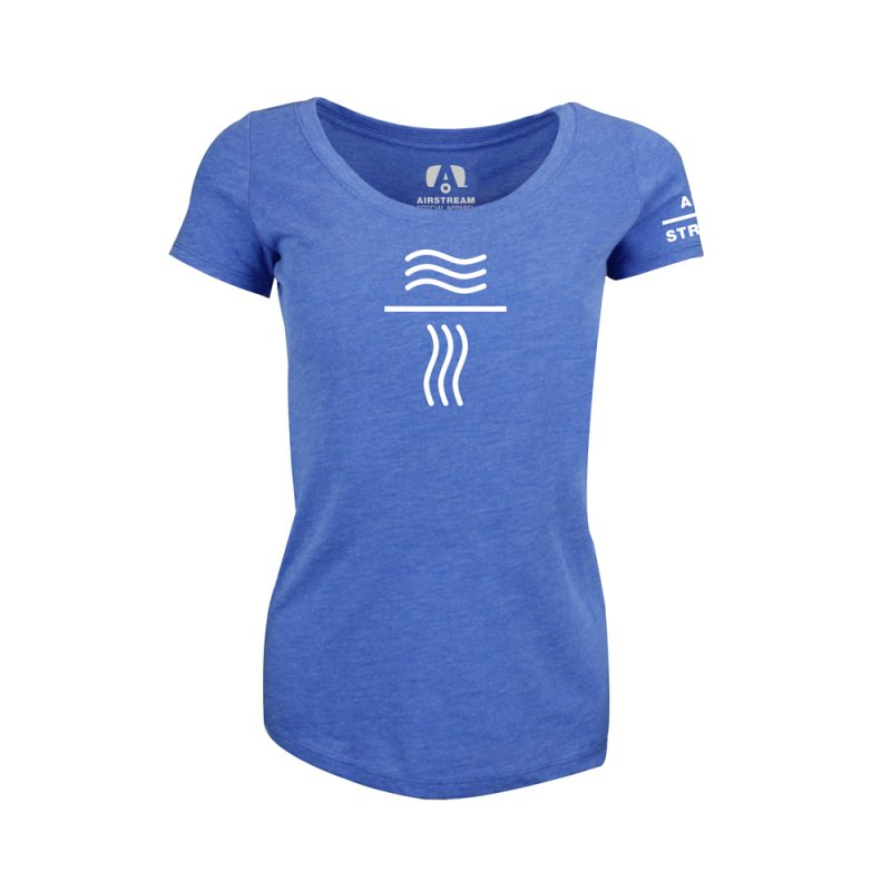 final sportiqe womens scoop wavy lines logo
