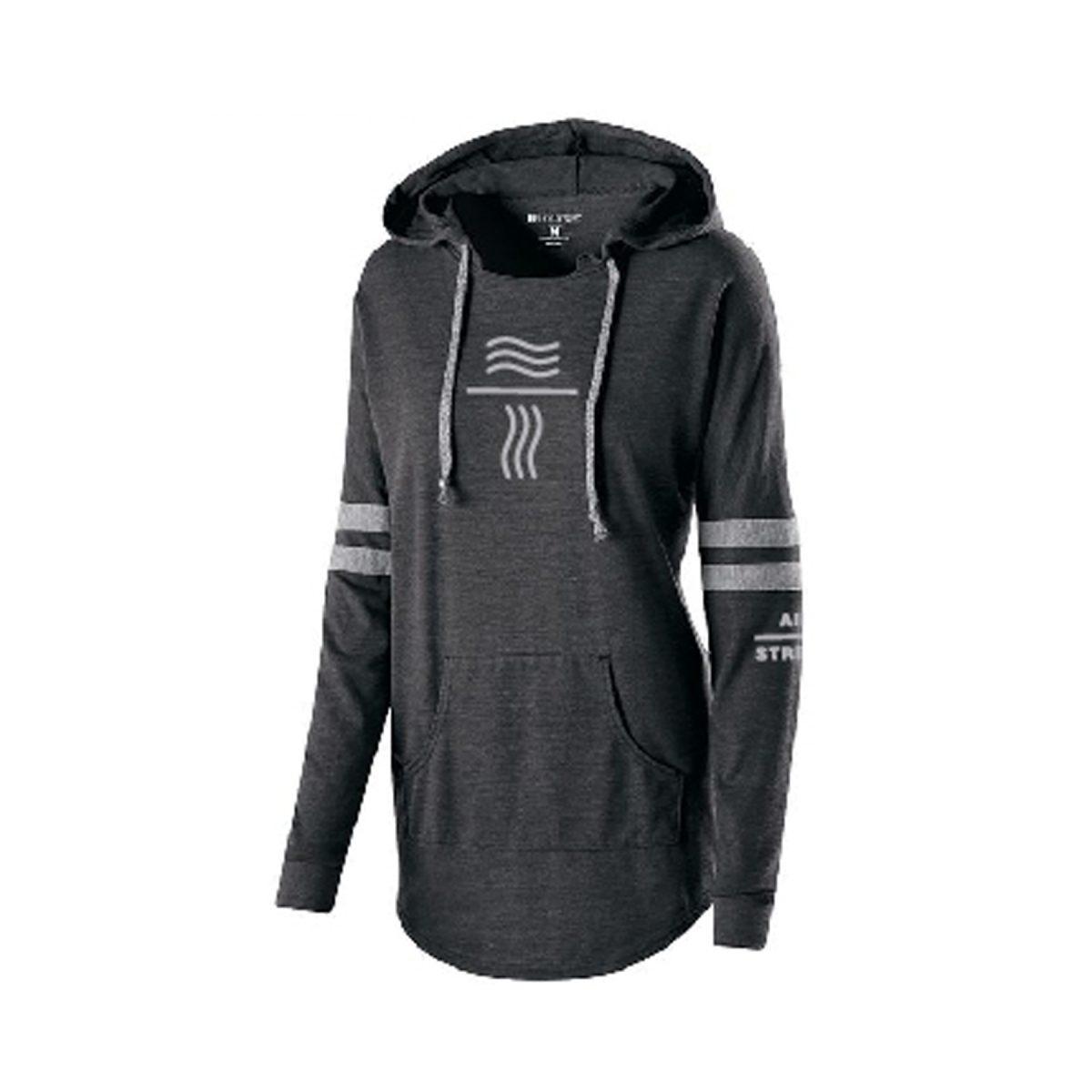 final augusta womens sporty hoodie wavy lines logo