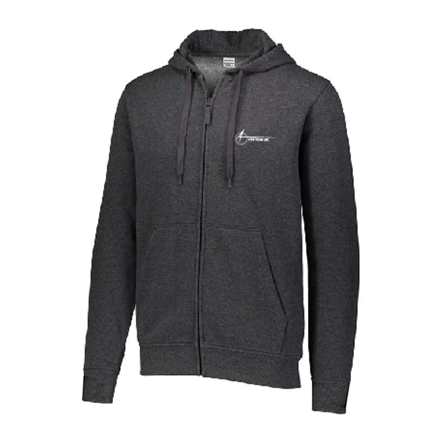 augusta mens unisex zip hoodie