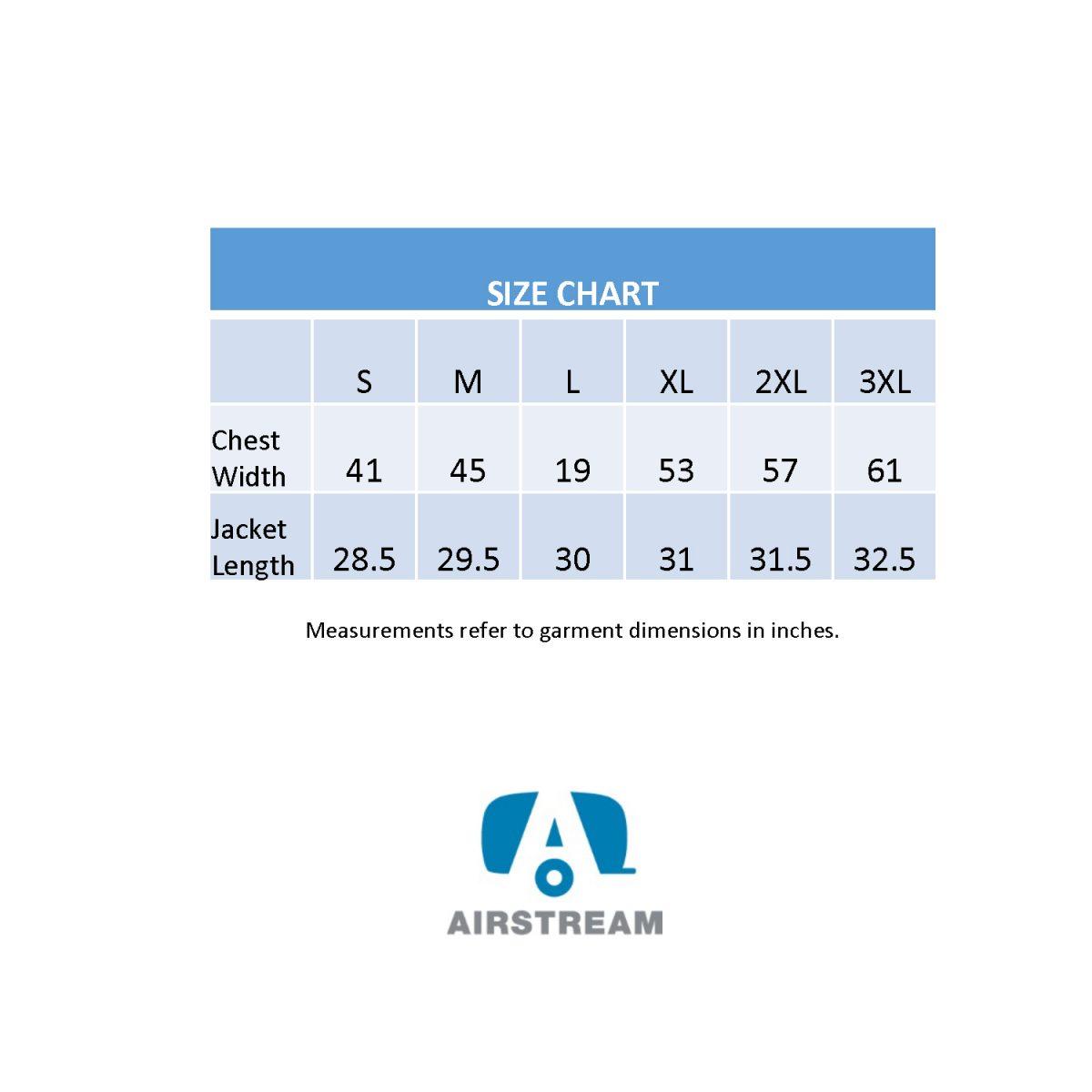 size chart augusta invert jacket