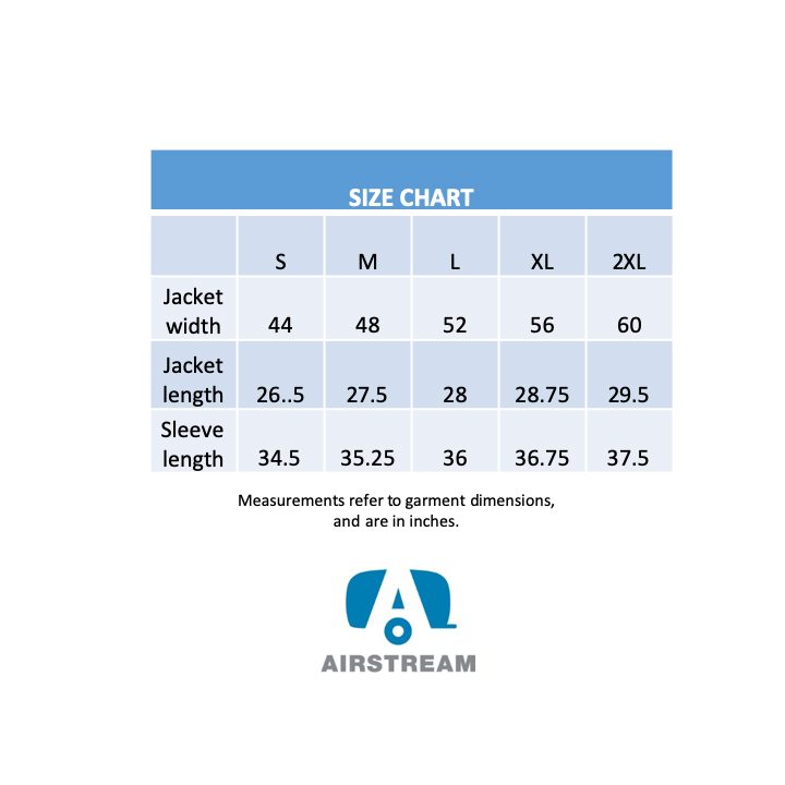 augusta satin jacket unisex size chart
