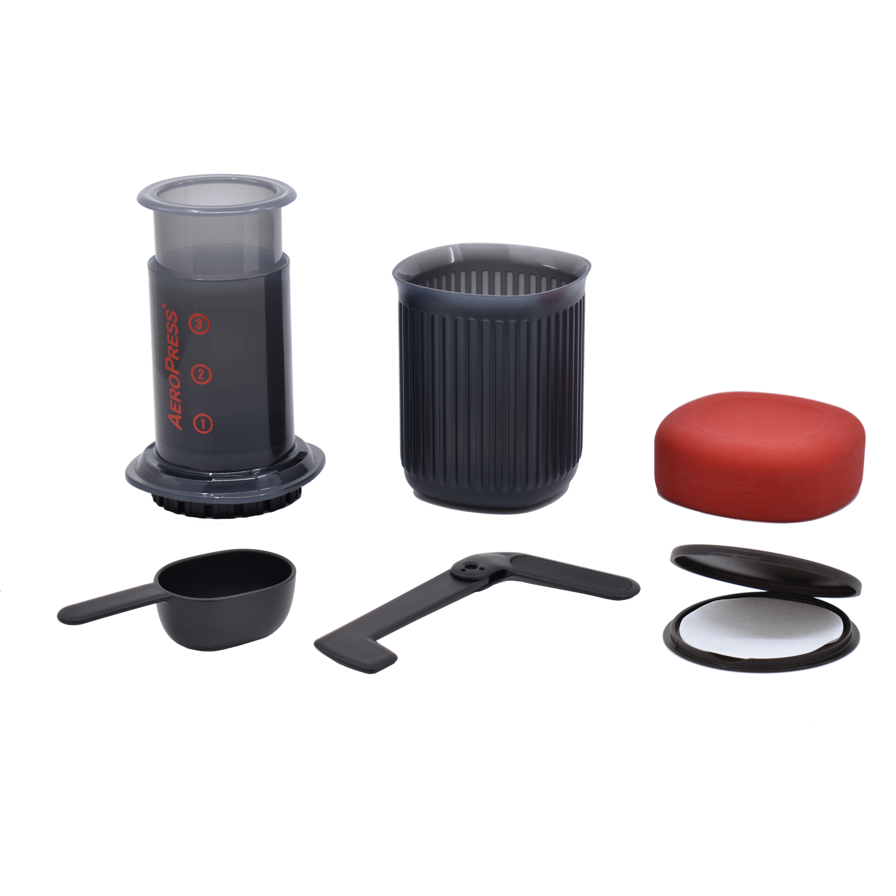 aeropress with accessories