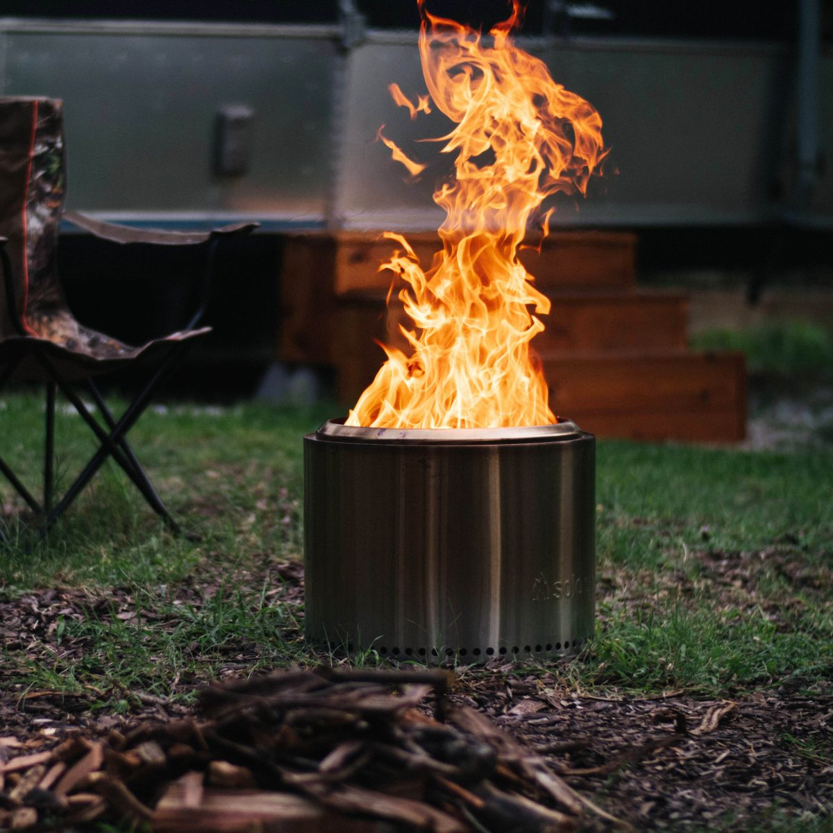 solo stove bonfire camp site