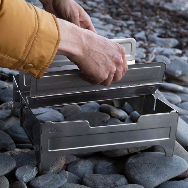 wolf grizzly fire safe portable fire pit main