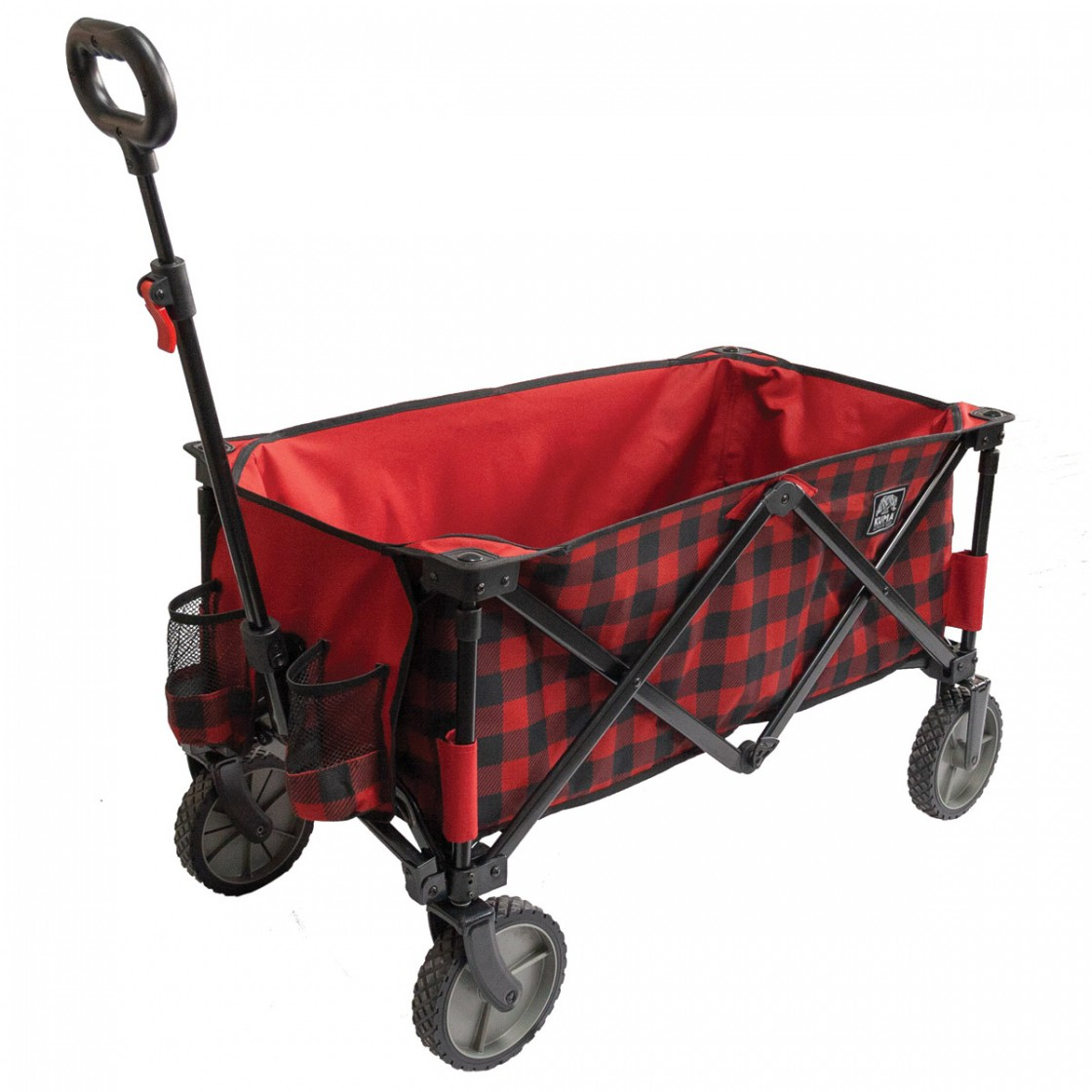 kuma bear buggy cart wagon - red plaid