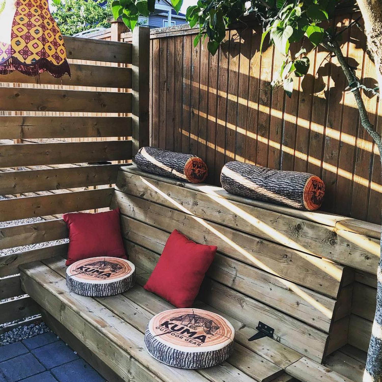 kuma wood cushion
