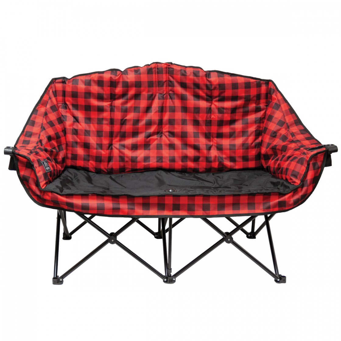 kuma bear buddy chair - red plaid