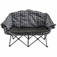 kuma bear buddy chair - gray plaid