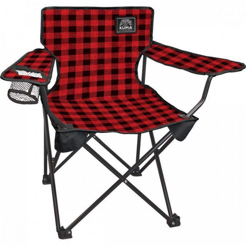 kuma cub jounir chair - red plaid