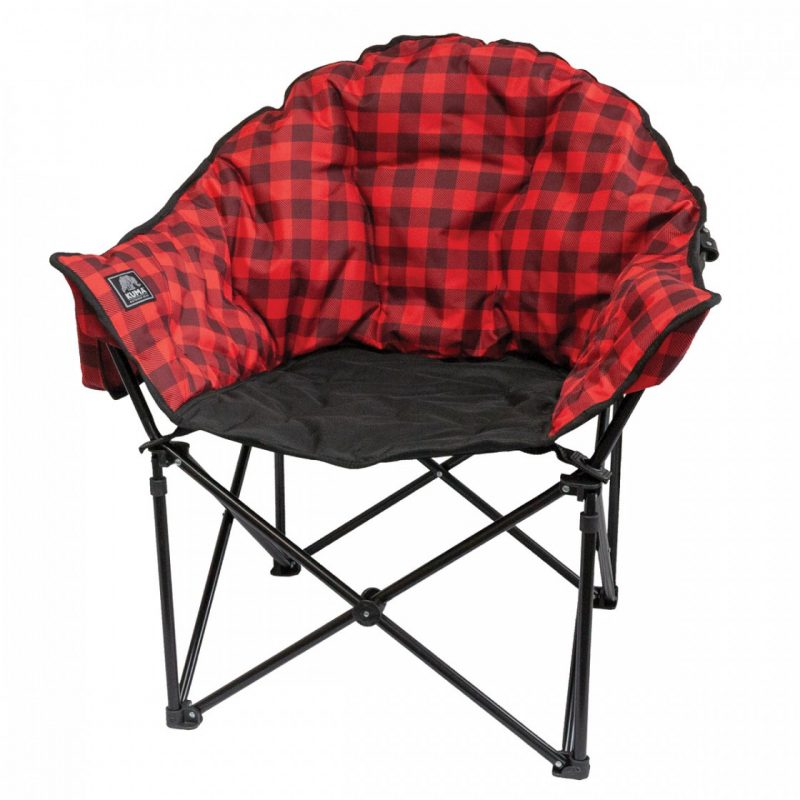 kuma lazy bear chair - red plaid