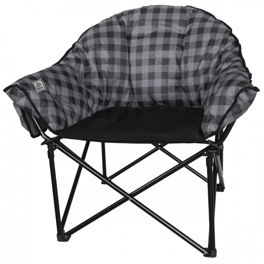 kuma lazy bear chair - gray plaid