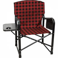 kuma bear paws chair - red plaid