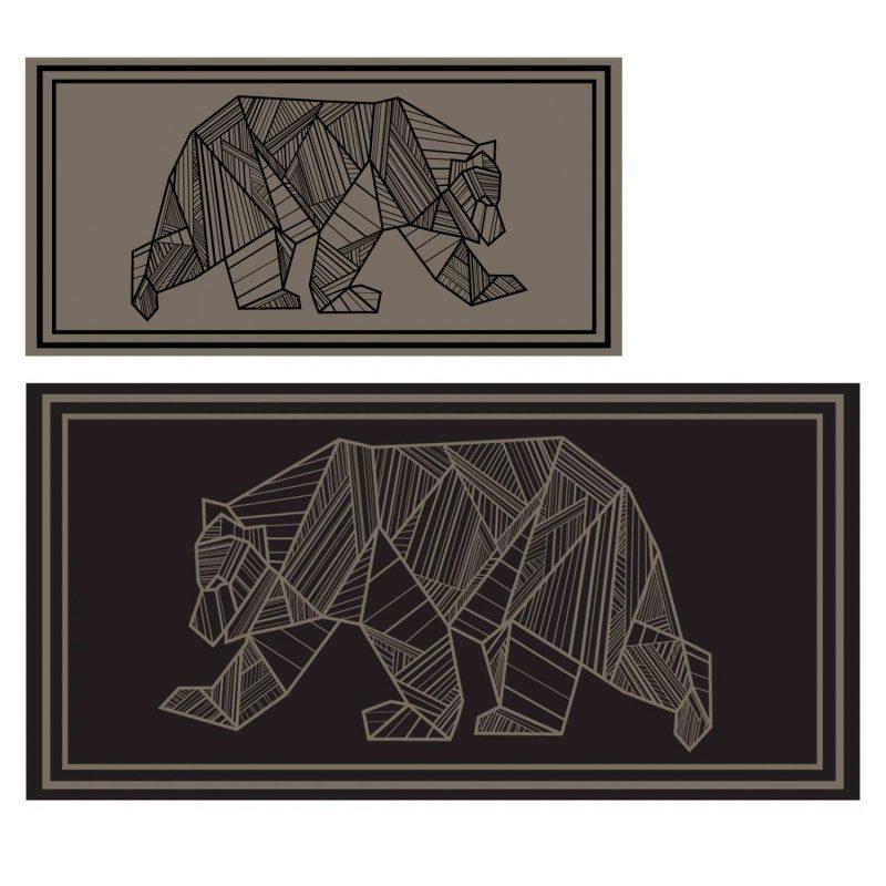 kuma bear mat 9x19 brown