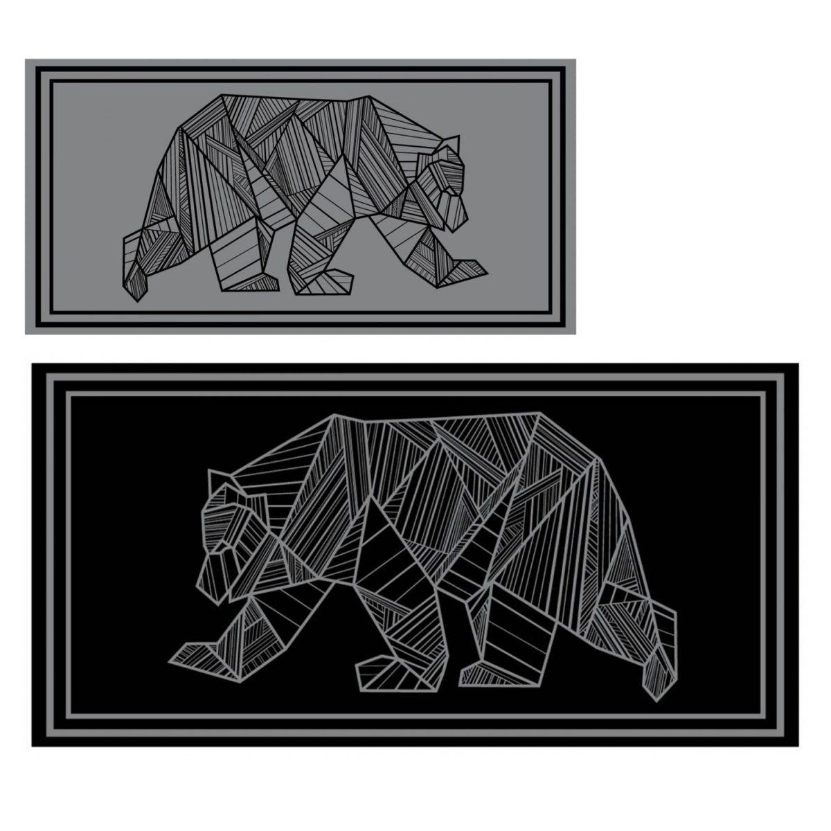 kuma bear mat 9x18 black