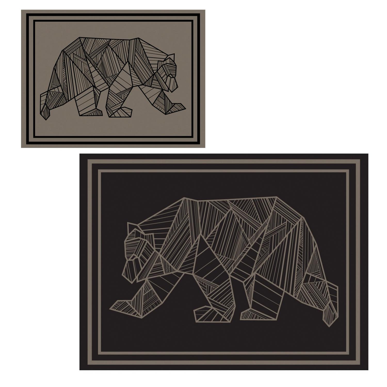 kuma bear mat 9x12 brown
