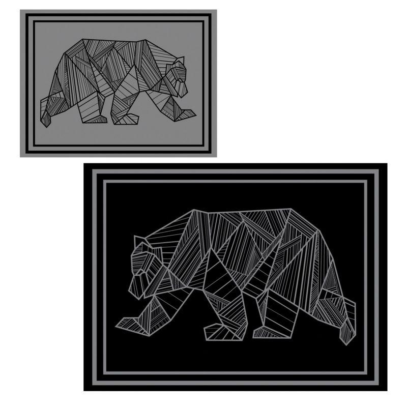 kuma bear mat 9x12 black