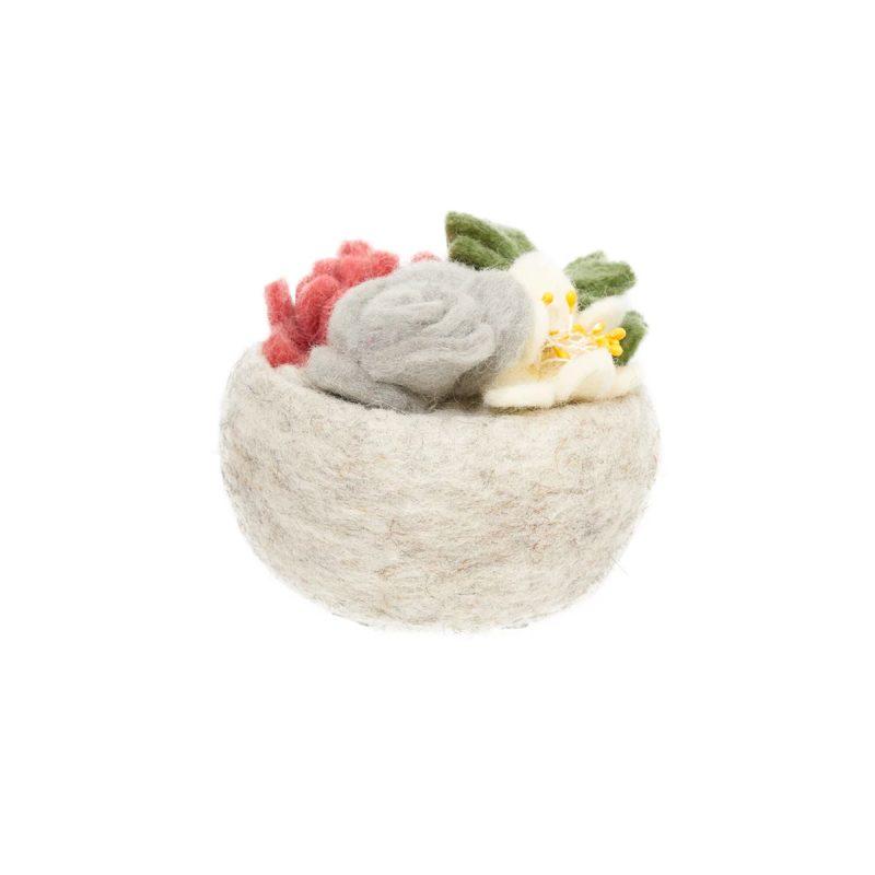 global goods partners succulent bowl gray rose