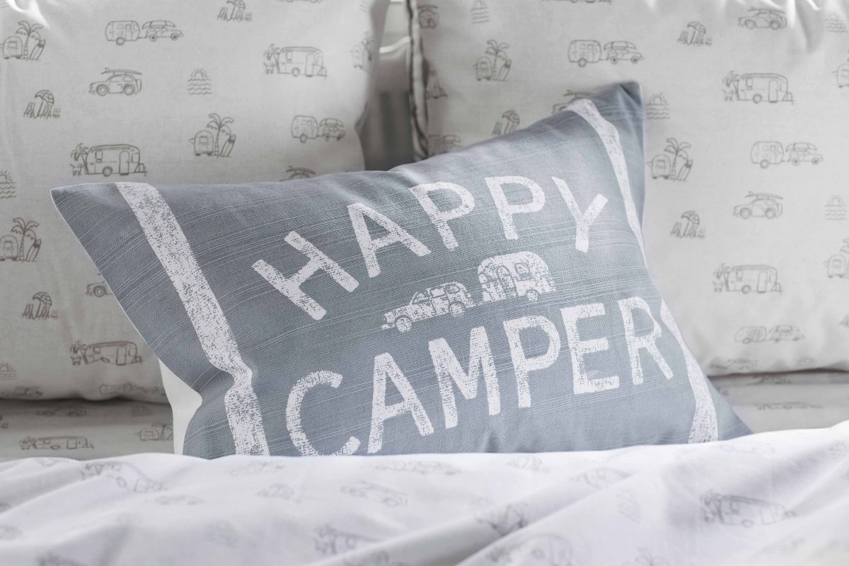 Pottery Barn Collection Happy Camper Lumbar Pillow